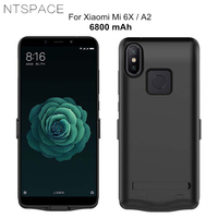 NTSPACE 6800mAh External Power Bank Pack For Xiaomi Mi 6X Power Case Portable Back Clamp Battery Charger Case For Xiaomi Mi A2