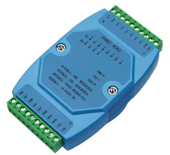 8 way digital quantity switch quantity remote I/O input module acquisition relay isolation output module