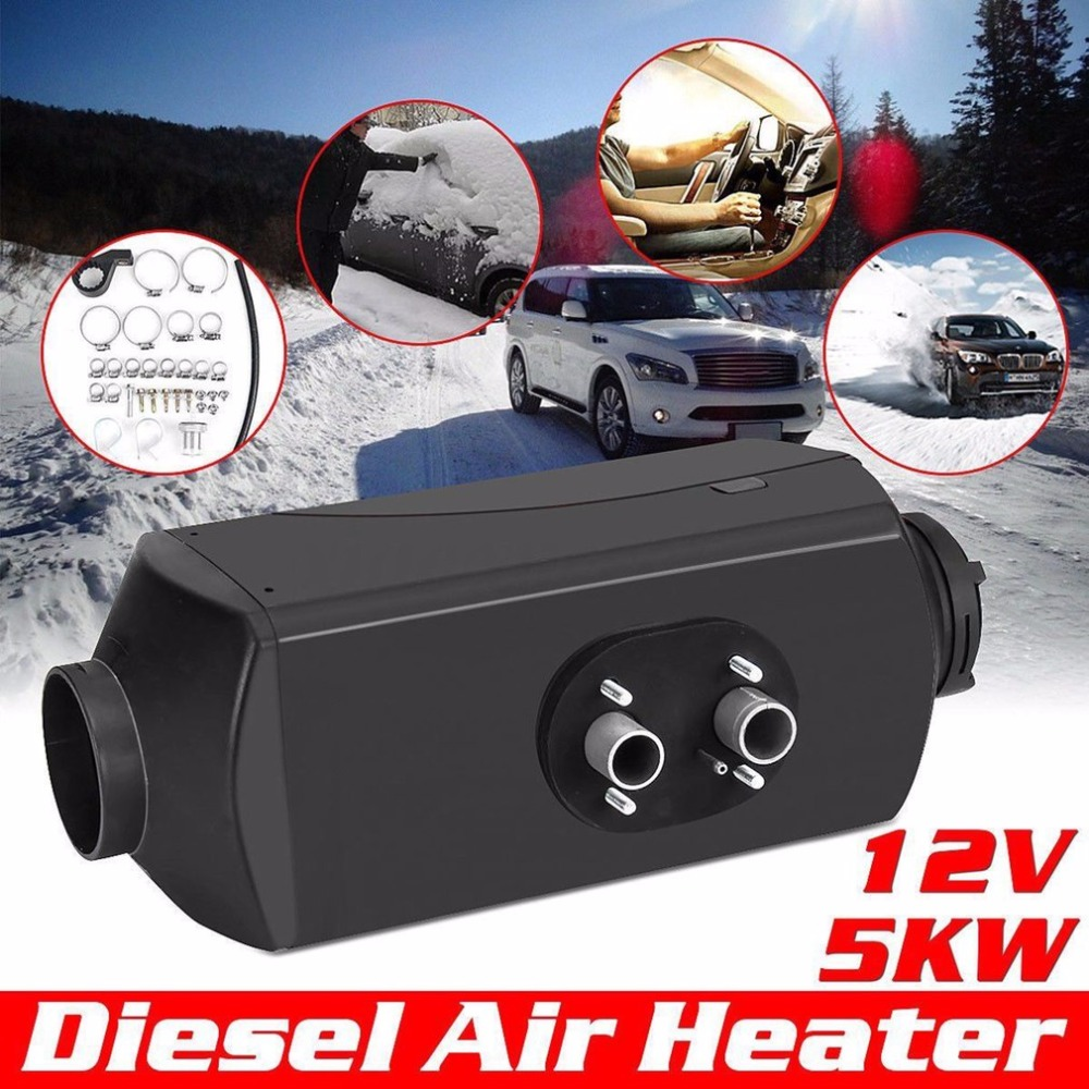 все цены на New 12V 5000W Air Diesel Parking Heater For Truck Motor-Home Car Bus Low Emissions Low Fuel Consumption Top Sale онлайн