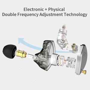 Image 3 - Новинка CCA CA4 1DD + 1BA гибридные наушники вкладыши HIFI DJ спортивный монитор для бега сценический IEM двойной привод Съемный 2 контактный кабель