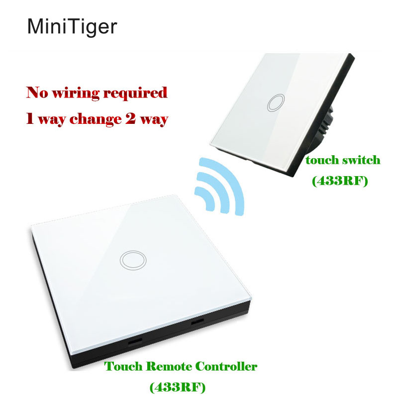 EU Standard Touch switch+Wireless Stick Touch Switch(Touch Remote Controller),touch switch shape remote controller 30m