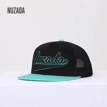 2019 NEW NUZADA Original Men Women Hip Hop Cap Dimensional Embroidery Cotton Mesh Hats Spring Summer Breathable Mesh Couple Caps