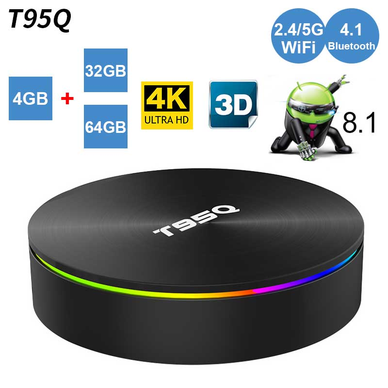 T95Q Smart Tv Box Android 8 1 Amlogic S905X2 Quad Core 4GB 32GB 4GB 64GB 2