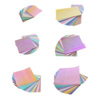 50 шт. оригами Бумага односторонний квадратный Сияющий складной вырезать трафарет ручной работы для поделок, скрапбукинга карты запись альб