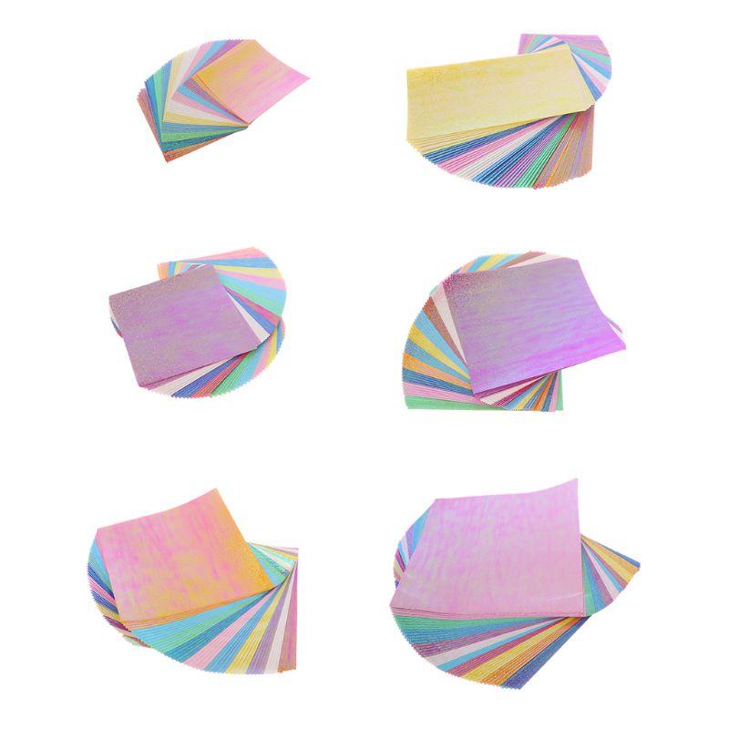 50 pcs papier Origami simple face carré brillant pliant coupe matrices pochoirs à la main bricolage Scrapbooking artisanat carte enregistrement Album
