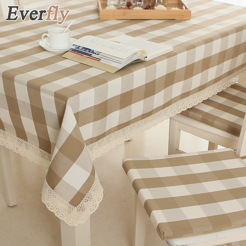 Pastoral Style Red/coffee Polyester Printed Lace Tablecloth Rectangle Plain  Dyed Plaid Tablecloths Wedding Tablecloth
