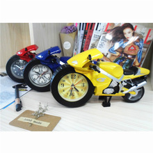 Motorcycle style alarm clock child cartoon fashion bedroom bedside