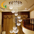 LED modern staircase chandelier crystal lamp stair lamp chandelier hanging lamp hall long Hotel Villa Crystal lamp