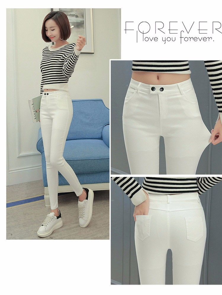 7 Colors Plus Size Pants Full Length Women Spring Autumn Pencil Pants Causal Slim High Waist Legging Stretch Trousers 2016 A663  g