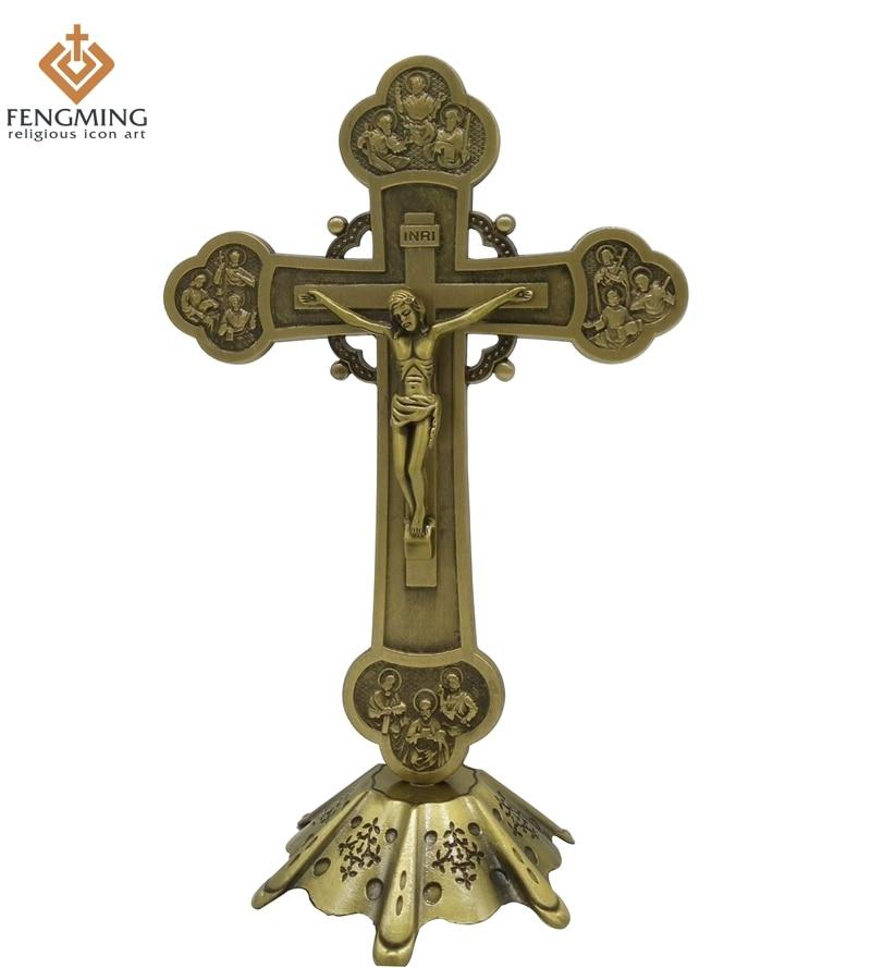 Ausdauernd Orthodoxe Kreuz Katholischen Taufe Geschenke Vintage Hause Dekoration Zubehör Den Menschen In Ihrem TäGlichen Leben Mehr Komfort Bringen