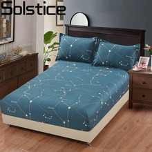 Solstice Home Textile Bedding Mattress Cover Protector 100% Cotton Kid Child Teen Fitted Bed Sheet King Queen Full Single Double