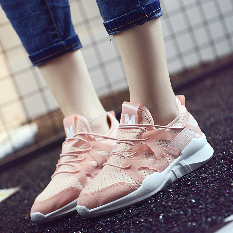 Women Casual Shoes Summer 2018 Spring Women Shoes Fashion tenis feminino Breathable Hollow Lace-Up Women Walking Sneakers