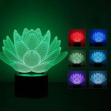 Buy lotus flower toy and get free shipping on aliexpress new 7 color changing night lamp 3d lotus flower light heart visual illusion led lamp for mightylinksfo
