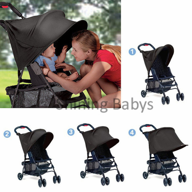 Baby Stroller UV Protection Baby Car Awning Sunshield Shade Tent Multifunctional Stroller Rain Cover with Side  sc 1 st  AliExpress.com : baby shade tent uv protection - memphite.com