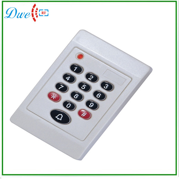 Free shipping +125khz wiegand 26 contactless rfid keypad smart card reader access control sytem support door bell function usb port em4001 125khz rfid id contactless sensitivity smart card reader support window system