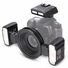 Майке MK-MT24 Macro twin Lite флэш-памяти для Nikon Цифровые зеркальные фотокамеры