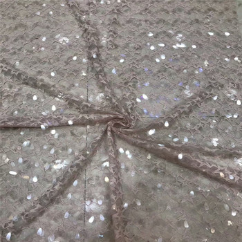 Nigerian lace fabrics for wedding 2018 french tulle laces african lace fabric 2018 high quality lace sequins for dress BH5-29