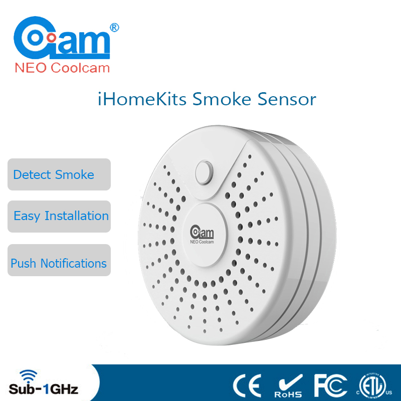 NEO Coolcam IHome Kits NAS-MS01T Wireless Alarm System Detect Smoke Sensor For Home Security Certification CE&ROHS