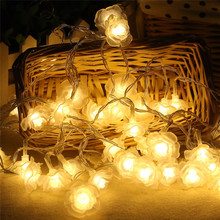 Fashion Romantic Holiday Lighting 10M 100LED Novelty Rose Flower Fairy String House Party Event Wedding Decoration Floral light