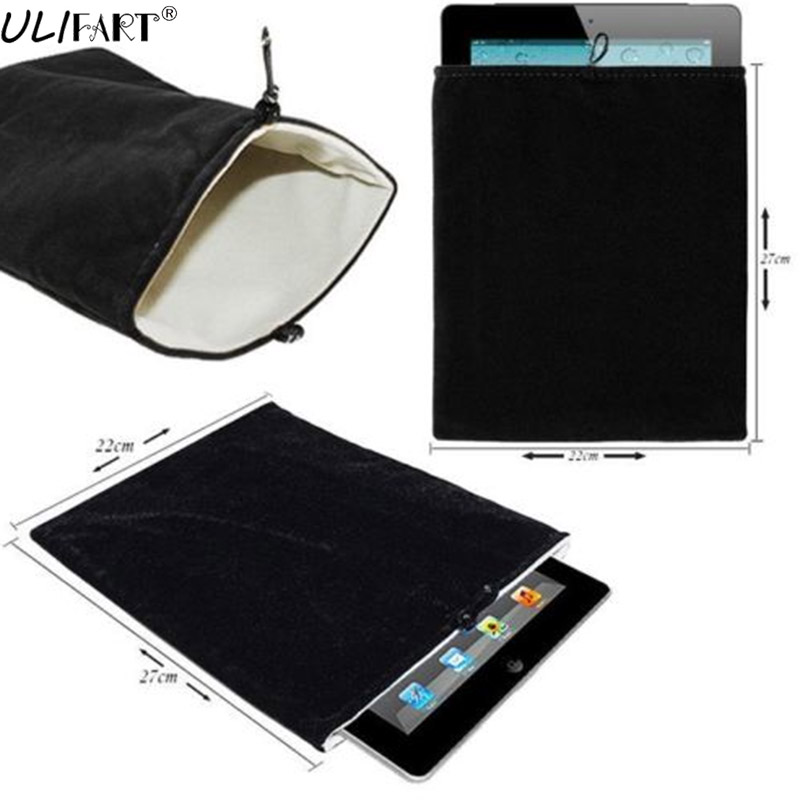 ULIFART Tablet Carrying Bag Velvet Tablet Bag Fashion Simple Colorful Tablet 10 Inch Case Cover For Ipad/Tablet/Cosmetics
