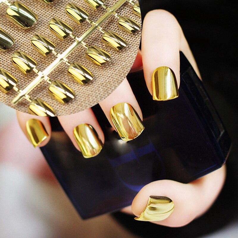 Tienda Online Sexy falso clavo metálico acrílico espejo superficie ...