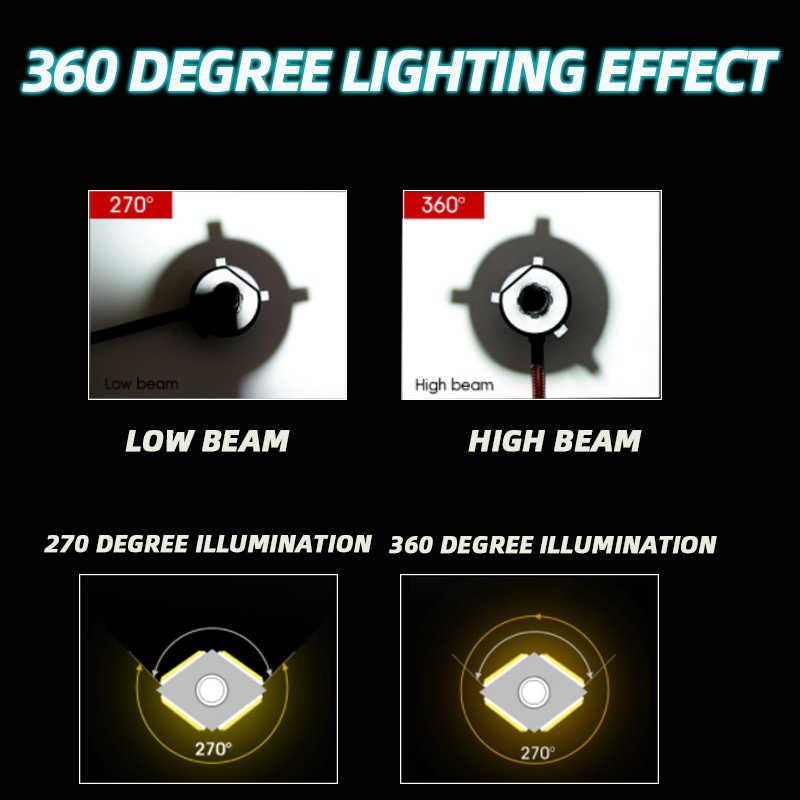4 辺 H7 led 電球 9005 9006HB4 H8 H9 H11 H7 led ランプ 12000LM 6000 18k ターボ冷却車の led ヘッドライト 360 度照明