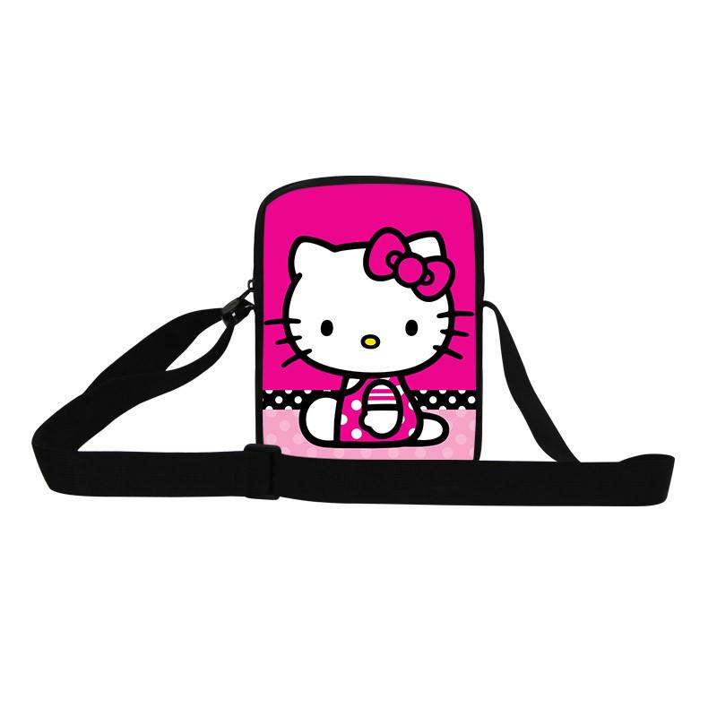 Cartoon Shoulder Bag Girls Cartoon Messenger bags Hello kitty Leisure bag Cute Small satchels