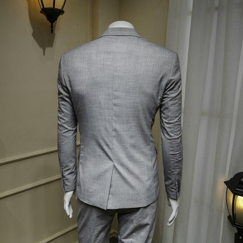 XM GEEKI Mens grigio Abiti Da Uomo D'affari Casual Vestito Giacche dell'abito Abiti da Uomo Abiti Da Sposa Abiti Formali Sposo Giacca 365wt54 - 3