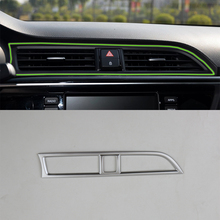 Car Accessories ABS Interior Front Middle Air Vent Outlet Cover Trim For Kia K2/Rio 2017 Car Styling 1 set car stying chrome for kia rio 4 k2 2017 2018 air outlet circle cover interior mouldings decoration frame