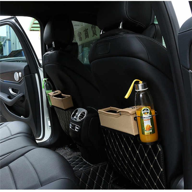 Torba do przechowywania za fotelem samochodowym układanie Tidying na monety telefoniczne klucze papierosów siedzenie samochodowe ze skóry pu boczny schowek wielofunkcyjny organizer