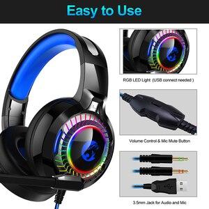 Image 3 - 7,1 Sound PS4 Gaming Headset casque Wired PC Stereo Kopfhörer Kopfhörer mit Mikrofon für Neue Xbox/Laptop Tablet Gamer