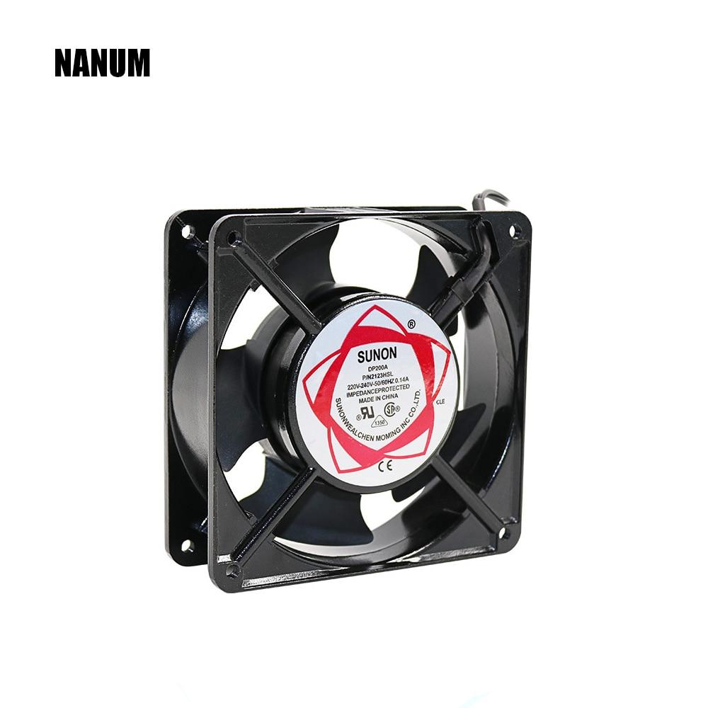 NANUM ventilador de refrigeración 12038 DP200A 2123 de 220 V 120*120*38 ventiladores axiales de 120*120*38 MM ozonizador accesorios de soldadura de estaño ventilador de escape