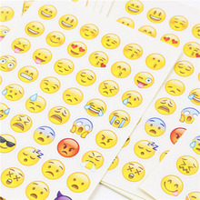 цена на Cute Kawaii QQ Expression Stickers Creative Iphone Emoji Paper Sticky For DIY Diary Scrapbooking Photo Album Kids Students Gift