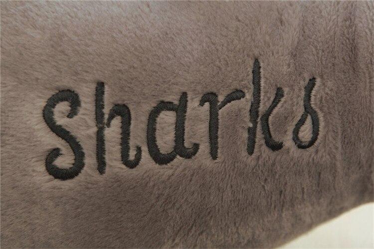 100 см гигантские акулы Плюшевые игрушки куклы для детей чучело Белая Акула подушка для влюбленных подарок - 6