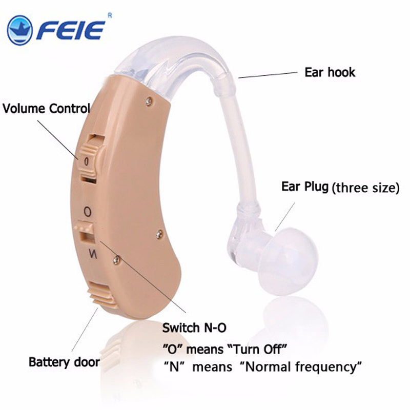 Personal Deafness Hearing Aid mini Sound amplifer ears S-998 with three sizes ear plugs Free Drop Shipping