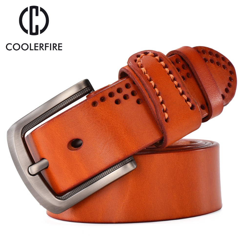Designer Belts Men High Quality Luxury Ceinture Cowboy Cinto Real Full Grain Cowhide Genuine Leather Masculine Camel Black TM006