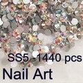 SS5 Flatback Crystal AB Del Arte Del Clavo Redondo 1440 unids Para Uñas Arte Zapatos Y Accesorios de BRICOLAJE