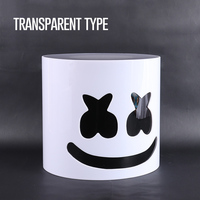 Arylic Type Best Ever!! 30cm Transparent DJ Marshmallow Helmet Marshmallow Mask DJ Mask Helmets Without Light