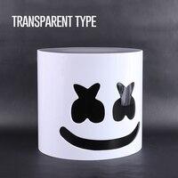 Arylic Type Best Ever!! 30cm Transparent DJ Marshmello Helmet Marshmello Mask Can Install LED Part DJ Mask Helmets Without Light