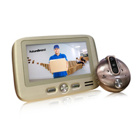 Ding Dong door bell camera mirilla electronica 4.3 inch TFT LCD IR Night Vision Motion Detection Video Recording Photos Taking