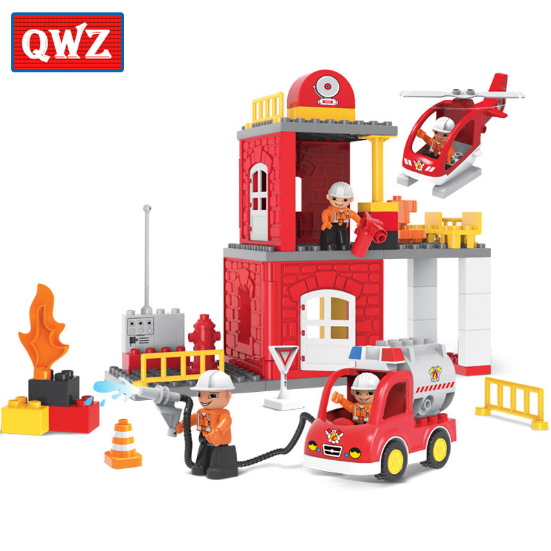 Aliexpress Buy Qwz 60pcs City Fire Station Fire