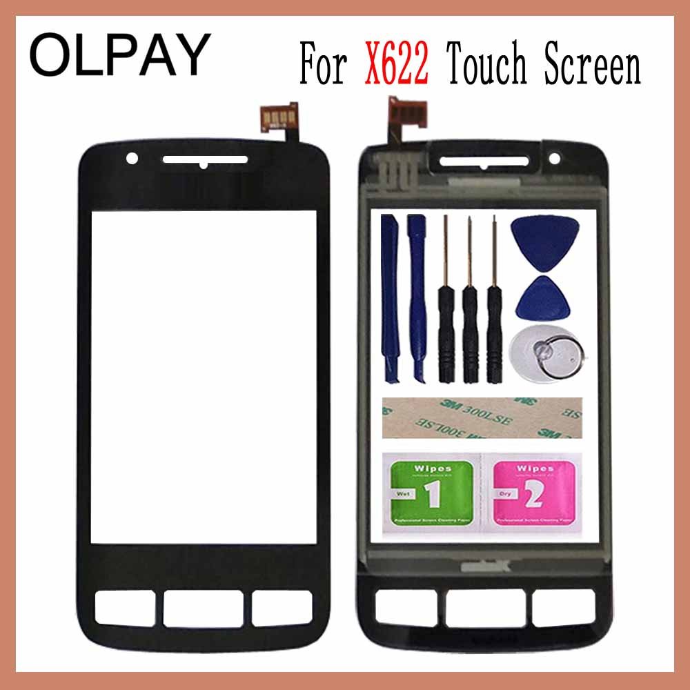 OLPAY 3.2'' Mobile Touch Screen For Philips X622 Touch Screen Front Glass Digitizer Free Adhesive And Wipes