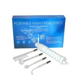 4 em 1 High Frequency Máquina Facial Cabelo Massagem Eletrodo Wand Face levantamento Da Pele Whiten Aperte remover acne Cuidados de Beleza dispositivo