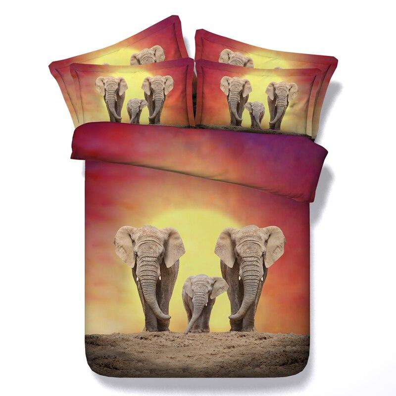 ΞElefante africano animales 3D impreso Ropa de cama edredón Tapas ...