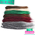 "18"" 3x Micro Box Braids Hair 100g/pack Ombre 6colors BOX Medium Braids Style Synthetic Crochet Braiding Hair Extension for Women"
