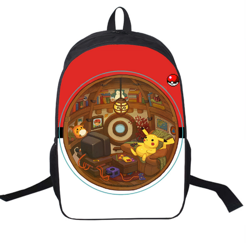 16 Inch Anime Pokemon Ball Daily Backpack Boys Girls School Bags Haunter Backpack For Teenagers Kids Backpacks Mochila To Have Both The Quality Of Tenacity And Hardness Ceiling Lights & Fans