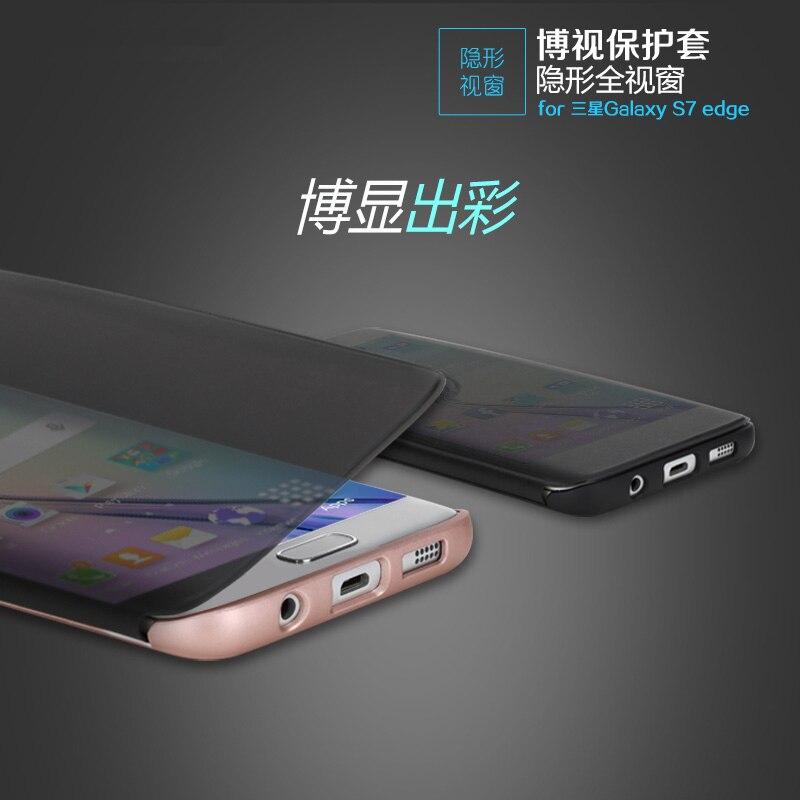imágenes para 2 colores para samsung galaxy s7 edge g9350 original nueva marca teléfono case smart cover s7 borde invisible full view window descuento