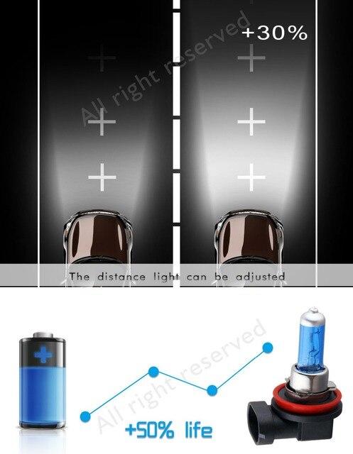 Ampoules halogènes Super lumineuses H1 H3 H4 H7 H11 9005 HB3 9006 HB4 55W 100W 12V 5000K phare de voiture antibrouillard lampe de conduite blanc 5