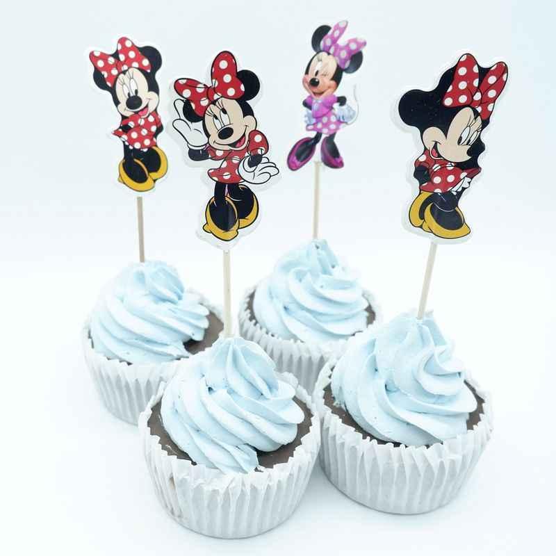 720 pcs Minnie Mouse Partido Do Queque Topper Festa Feliz Aniversário Baby Shower Crianças Decoração Do Partido Dos Miúdos Decoração Do Bolo Suprimentos
