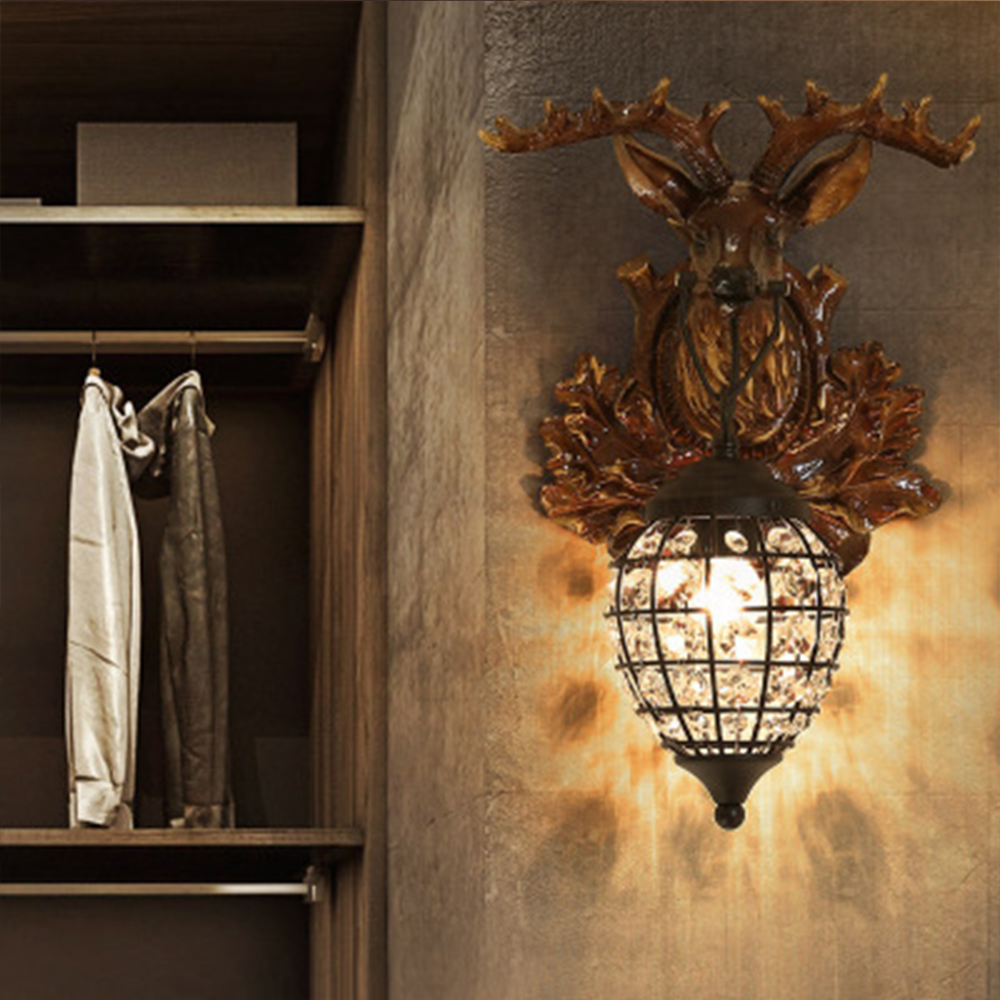 HGHomeart Vintage Wall Lamp for Home Loft Home Lighting Led Wall Lamp Luminarias Wall Mount Light Living Room Wall Lamp Vintage
